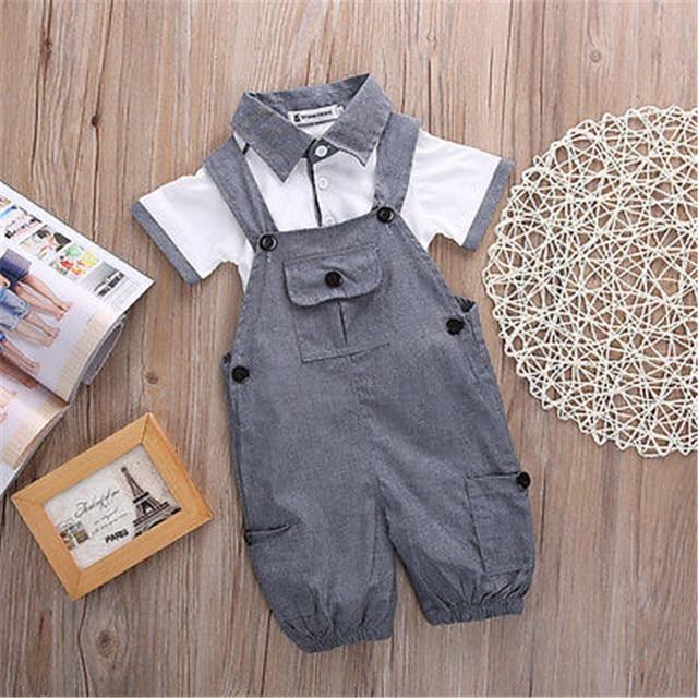 890222e76 2PCS Set Baby Toddler Kids Boys Clothes T shirt Tops + Pants Outfits ...
