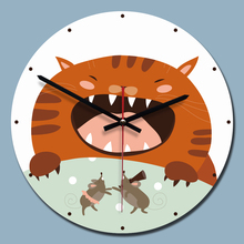 11 Inches Modern Wall Clock Acrylic 3D Cat Painting For Any Room Decoration