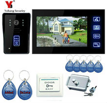 YobangSecurity Touch Key 7″Inch Video Door Phone Doorbell Intercom Entry System Home Security With RFID Keyfobs,Electronic Lock