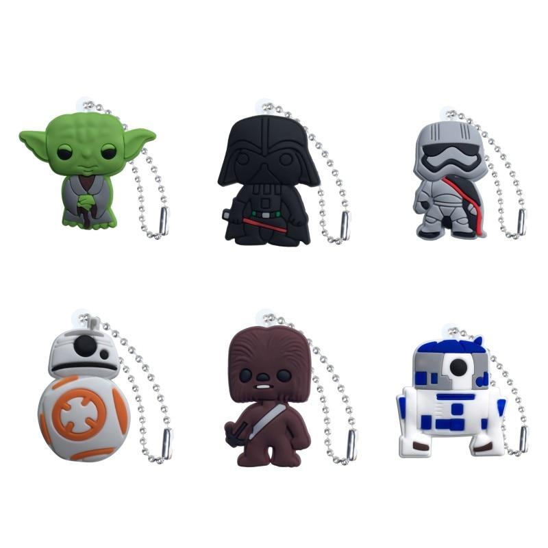 1pcs Star Wars Cute Charm Ball Chain Keychain Organize Desk Accessories&Organizer Key Holder Bag Clothes Decor Kids Gift