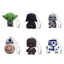 1pcs Star Wars Cute Charm Ball Chain Keychain Organize Desk Accessories&Organizer Key Holder Bag Clothes Decor Kids Gift(China)