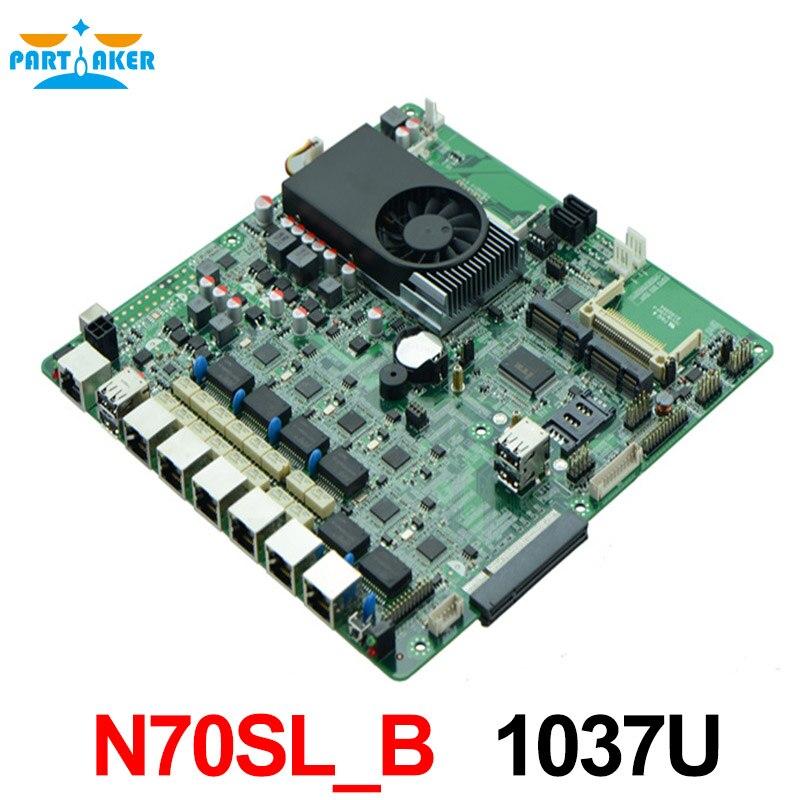 Pare-feu carte mère N70SL_B 1.80 GHz double coeur processeur avec 2 * COM, 6 * USB, 2 * dérivation 12 V DC