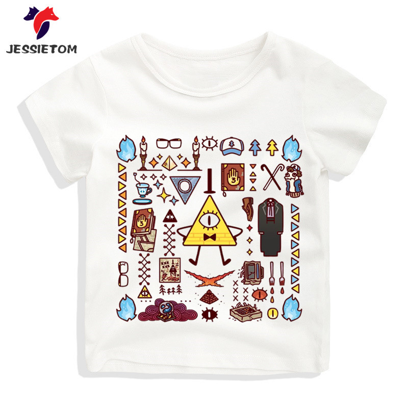 Boy and Girl Gravity Falls Cartoon Mabel Dipper Pine Tshirt Kid Summer Soft Kawaii Top Tee Children Funny Clothes Baby Camisetas mabel london