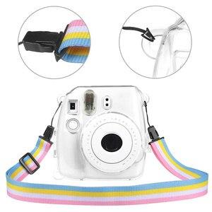 Image 3 - Powstro Cases For Fujifilm Instax Mini 9 Camera Protection Case Transparent Plastic Cover With Strap For Fuji Mini 8/8 Bag