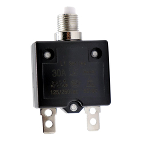 Image 1 - 1 Pcs 30A Circuit Breaker 12V/24V Push Button Resettable Thermal Circuit Breaker Panel Mount For Auto/Industrial/Marine Etc