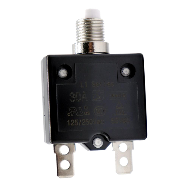 1 Pcs 30A Circuit Breaker 12V/24V Push Button Resettable Thermal Circuit Breaker Panel Mount For Auto/Industrial/Marine Etc