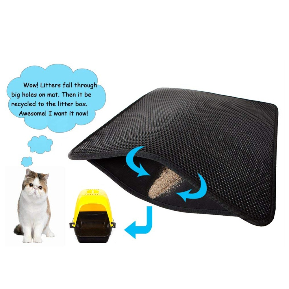 Waterproof Pet Cat Litter Mat Eva Double Layer Cat Litter Trapping Pet Litter Cat Mat Clean Pet Products For Cats Accessories (2)