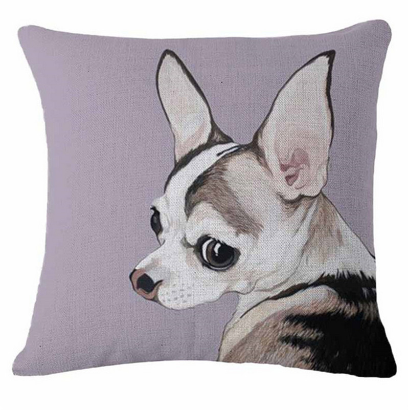 Housse coussin : Chihuahua