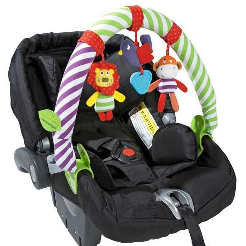 Новые 2017 детские кроватки погремушка Babyplay ребенка колокольчик Многофункциональный плюшевые игрушки коляска мобильного подарки для путешествия арка