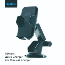Bestins Car Mount Qi Wireless Charger for iPhone X 8 Fast Charging Xiaomi Samsung Galaxy Phone Hold