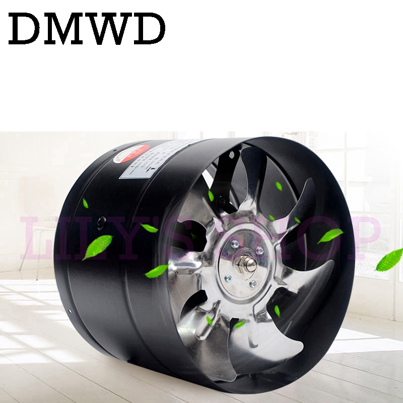 DMWD 8 inch pipe exhaust fan 8 duct ceiling air ventilation fan inline booster 200mm window exhauster toilet kitchen exhaustfan good quality 6 inline 240cfm duct booster exhaust ventilation blower fan 15mm for grow tent room