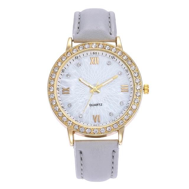 Elegant Women Rhinstone Jewelry Bracelet Watches Luxury Womens Ladies Quartz Lea