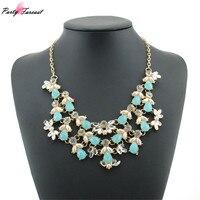 PF Fashion Multilayer Necklace Women Choker Pendants Female Dress Vintage Collar Gold Chain Big Double Bead