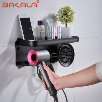 Special shelf for Dyson hair dryer Hairdryer Holder Wall Mounted Storgae Rack Bathroom Shelf For Dyson Supersonic Hair Dryer фото
