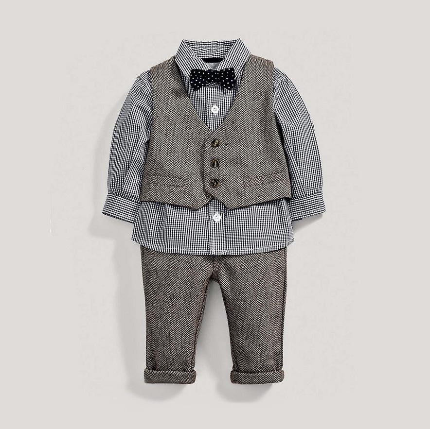 toddler boys clothing set winter kids clothes 5 years Autumn fall 2018 Formal Suit Gentleman 3 Pcs