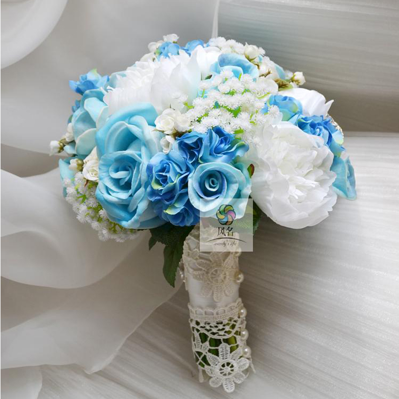 Handmade Wedding Floral Bride Holding Flower European