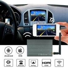 Mirascreen c1 para carros, tela de espelhamento sem fio, para celular, com wifi, miracast airplay dlna