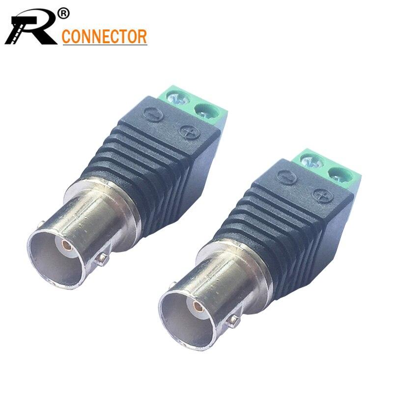 New 50 pcs Coax Cat5//Cat6 To Camera CCTV BNC Video Balun Coaxial Connector Screw