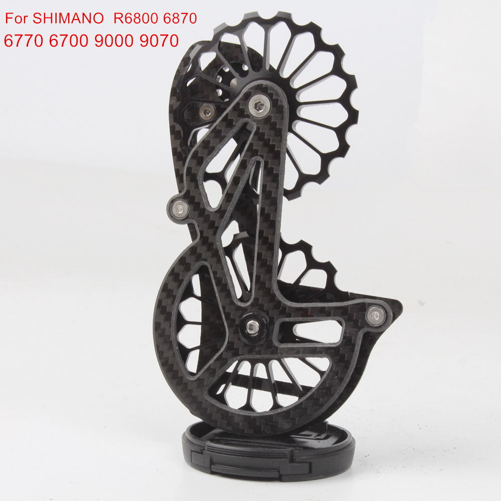 Bicycle Carbon Fiber Ceramic 17T Jockey Pulley Rear Derailleurs Guide Wheel For Shimano R6800 6870 6770