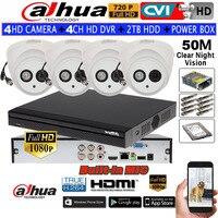 DAHUA 720P Built In Mic IR Dome Camera HAC HDW1100E A CVI Camera 4CH HCVR5104HS S3