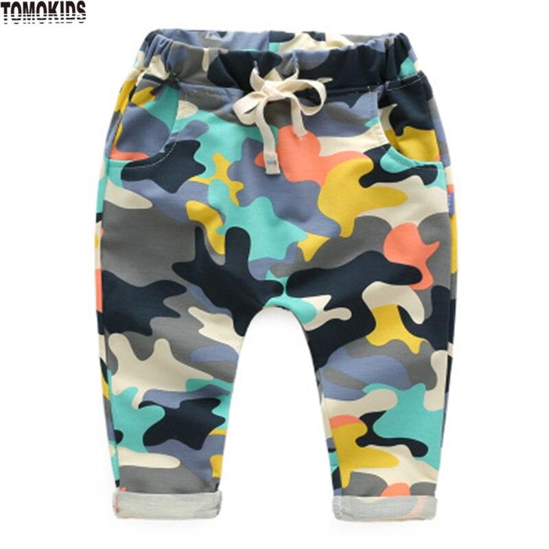 TomoKids Lente nieuwe camouflage jongensbroeken kinderbroeken lange - Kinderkleding