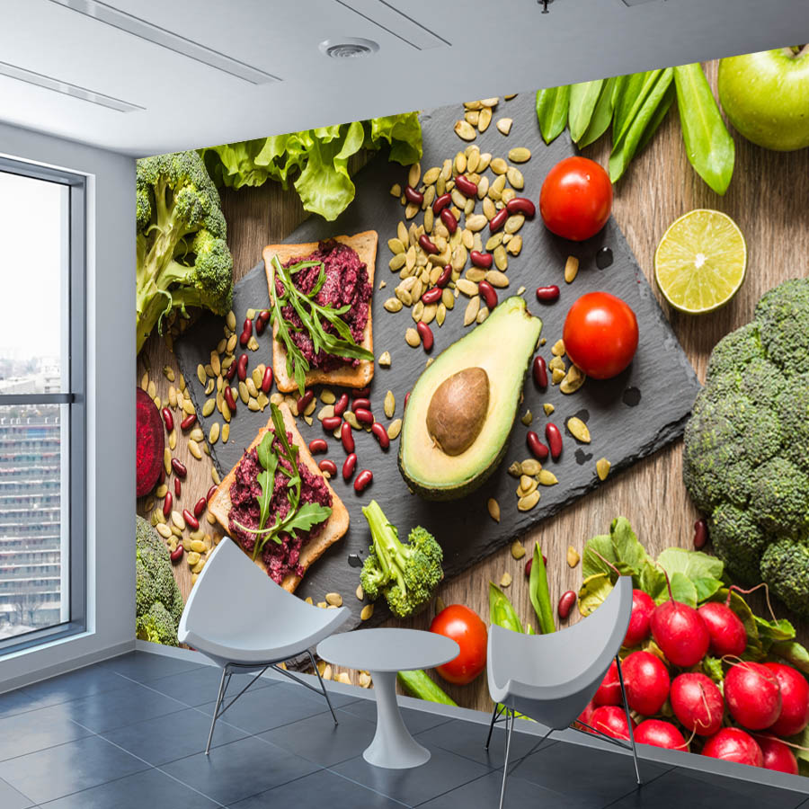 ShineHome-3D Wallpaper Food Vegetable Fruit Wall Mural Paper Picture Wallpapers for 3 d Restaurant Hall Living Room Walls DecorShineHome-3D Wallpaper Food Vegetable Fruit Wall Mural Paper Picture Wallpapers for 3 d Restaurant Hall Living Room Walls Decor