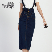 new Single-breasted Vintage Jeans Skirts Denim Sexy Split Long Skirt High Waist Slim Casual Women's jeans Skirts Plus Size S-4XL