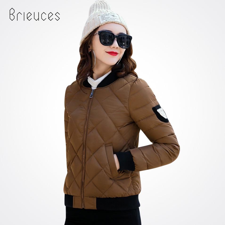 Beieuces 2017 Winter Jacket Women Baseball Coat Solid Color Female Slim Outwear Fashion Epaulet Women Coat Jackets Short epaulet