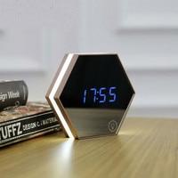 2018 Hot Sale Durable Digital Multifunctional LED Table Clocks Mirror Digital Display Electric Alarm Clocks Light emitting