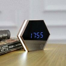 Durable Digital Multifunctional LED Table Clocks Mirror Display Electric Alarm Light-emitting
