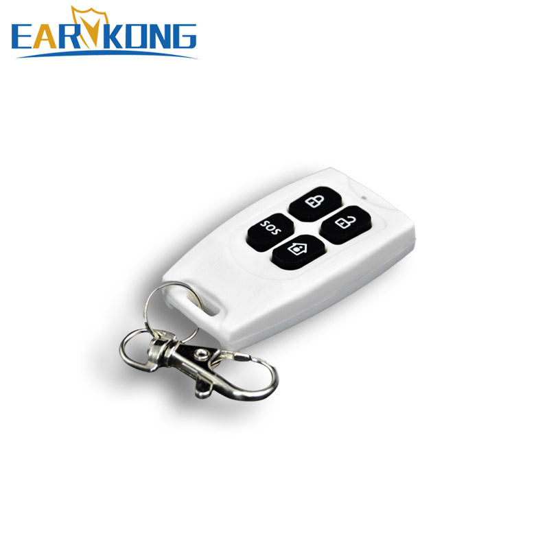 1 pieces 433MHz Wireless Remote Keychain controller GSM Alarm System plastic white Wireless remote control free shipping 3 pieces lot wireless remote control controller keyfobs keychain 433mhz just for our alarm system