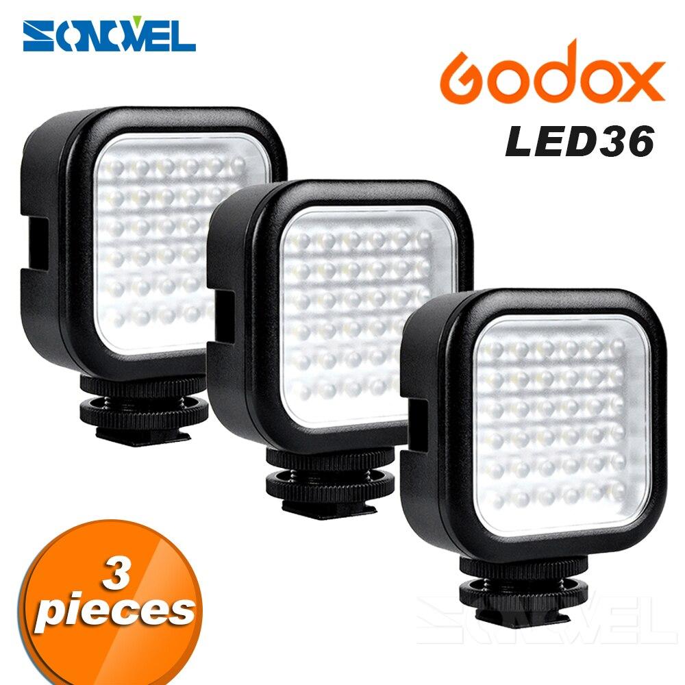 3 PCS Caméra LED Vidéo Lumière 36 LED Lumières Lampe Photographique Éclairage Lumière pour Nikon Canon Sony Appareil Photo Numérique Camcorde DV
