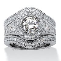 Size 5 11 Hot Sale Professional Wholesale 6mm White Sapphire 10K Gold Filled Round Cut Simulated