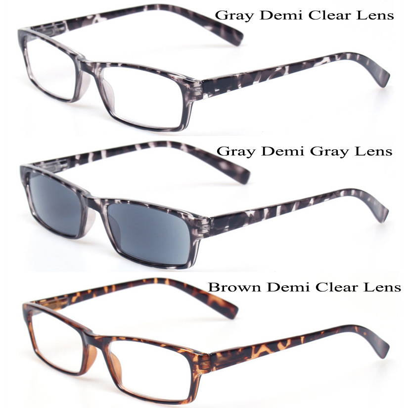 4941c96d423 Reading Glasses Fashion Men and Women Large Frame Eyewears Spring Hinge  Rectangular Eyeglasses Inclue Sunglasses Readers -in Reading Glasses from  Apparel ...