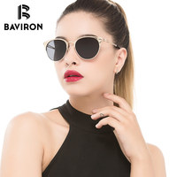 BAVIRON Women Retro Sunglasses Classic Cat Eye Punk Design Polaroid Lens Glasses Woman Hot Sale Alloy