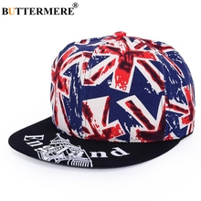купить BUTTERMERE Baseball Cap Women Cotton Print Snapback Caps Hip Hop Men British Flag Punk Adjustable Casual Summer Sun Hats New дешево