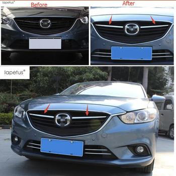 цена на Lapetus Accessories For Mazda 6 Sedan & Wagon 2013 2014 2015 Chrome Front Center Mesh Grille Grill Cover Trim Radiator Strips