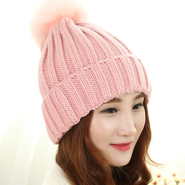 2017 Hot Sale New Letter Adult Novelty Unisex Acrylic Ladies Winter Hat Cap Korean In Autumn And Warm Baotou Female Knitted