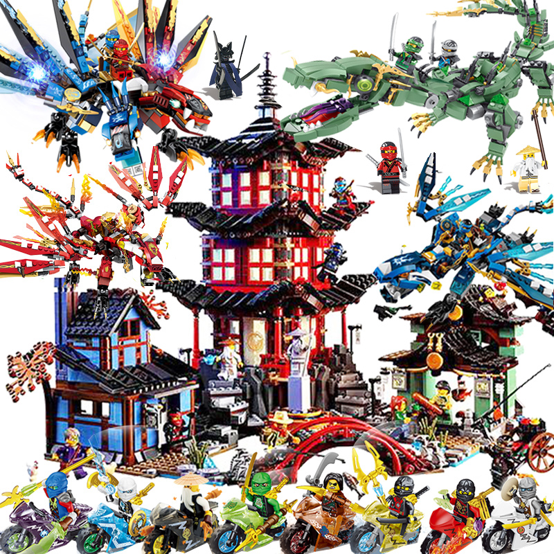26 Styles Ninja Ninjago Motorcycle Kai Legoinglys Ninjagoingly Tornado Models Building Toys For Children Christmas