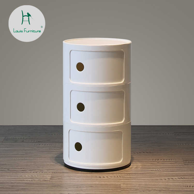 Louis Fashion Coffee Tables Multifunctional Plastic White Simple Creative Bedroom Storage Bedside Cabinet Corner