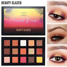 Beauty Glazed Shimmer Matte Eye Shadow Palettes 15 Color Glitter Makeup Palette Nude Pigmented