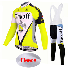 enve Winter Thermal Fleece 2018 Pro Team Tinkoff Cycling Jersey  Fluor Long  Sleeve b7a52e81f