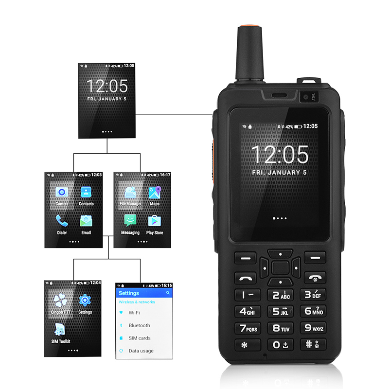 4G Network walkie talkie Zello PTT cellphone Touch Screen 1GB RAM 8GB ROM Android 6.0 OS Dual Sim Card quad cord mobile phone-in Walkie Talkie from Cellphones & Telecommunications