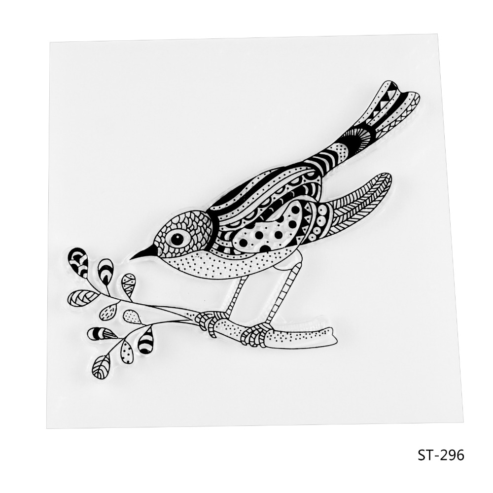 A bird Design Silicone Transparent Stamp Clear Stamps Set for DIY Scrapbooking Photo Album Decoration Supplies lovely animals and ballon design transparent clear silicone stamp for diy scrapbooking photo album clear stamp cl 278