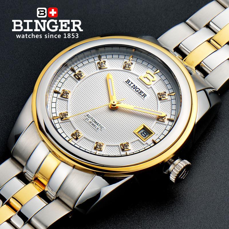 2019 Switzerland Wristwatches BINGER 18K gold watches men luxury top brand self-wind automatic Wristwatches B50102019 Switzerland Wristwatches BINGER 18K gold watches men luxury top brand self-wind automatic Wristwatches B5010