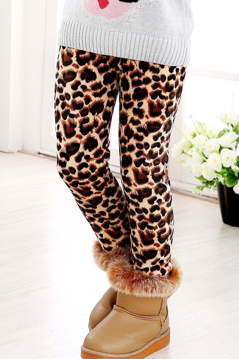 Детские штаны, осенне-зимние леггинсы для малышей, штаны для девочек с разноцветным принтом в виде цветов и бабочек - Цвет: 7