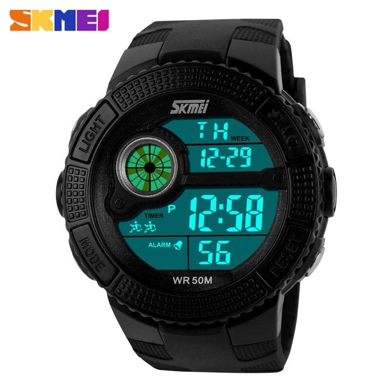 481e1147d1f0 Skmei Top marca de lujo reloj deportivo para hombres LED Digital Militar relojes  moda nadar muñeca casual relojes 1027
