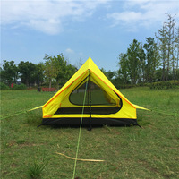 1 6kg Outdoor Camping Double Layer Tents Without Rods Portable Oxford Cloth Folding Tents Ultra Light