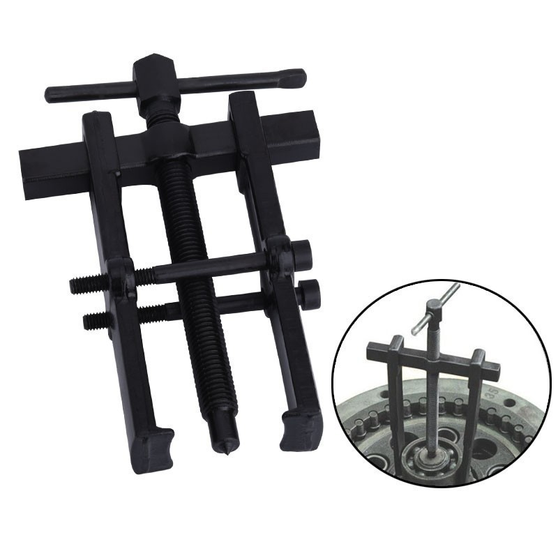 Black Plated Two Jaws Gear Puller Armature Bearing Puller Forging Extractor Installation Remove Tools
