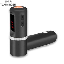 YUANMINGSHI Bluetooth Car Charger Handsfree Wireless Car MP3 Player FM Transmitter Dual USB Car Charger Car